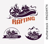 set of rafting templates for... | Shutterstock .eps vector #496334974