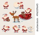santa claus illustration.... | Shutterstock .eps vector #496339645