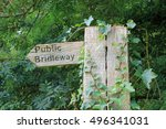 public bridleway sign covered... | Shutterstock . vector #496341031