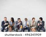 business team working break... | Shutterstock . vector #496345909