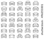 set of abstract cars... | Shutterstock .eps vector #496353301