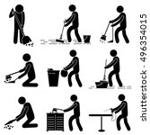 cleaning services   man person... | Shutterstock .eps vector #496354015