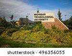 houghton  michigan  usa   ... | Shutterstock . vector #496356055