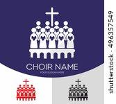 choir christian church. worship ... | Shutterstock .eps vector #496357549