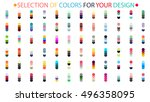 a selection of colors ... | Shutterstock .eps vector #496358095