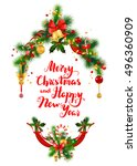 happy holiday greeting | Shutterstock .eps vector #496360909