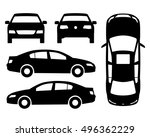 vector car black and white ... | Shutterstock .eps vector #496362229
