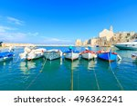 Fishing Boats In Small Port...