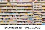 blurred image vitamin store...   Shutterstock . vector #496366939