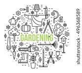 gardening concept illustration... | Shutterstock .eps vector #496368589