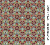 seamless circle pattern. islam  ... | Shutterstock .eps vector #496371004