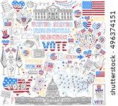 united states presidential... | Shutterstock .eps vector #496374151