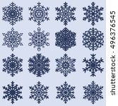 decorative abstract snowflake.... | Shutterstock .eps vector #496376545