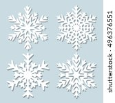 decorative abstract snowflake.... | Shutterstock .eps vector #496376551
