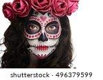 Bright Halloween Makeup On...