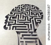 Stock photo labyrinth in the head d rendering 496380187