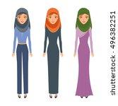 arab woman character people.... | Shutterstock .eps vector #496382251