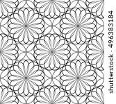 monochrome seamless pattern... | Shutterstock .eps vector #496383184