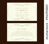 wedding invitation | Shutterstock .eps vector #496390885