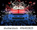 two tone sports car   abstract...   Shutterstock . vector #496402825