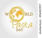 World Pasta Day Vector...