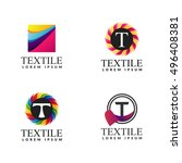 a collection of logos for decor.... | Shutterstock .eps vector #496408381