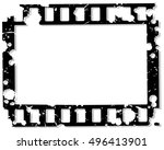 frame of photographic film on a ... | Shutterstock .eps vector #496413901