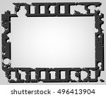 frame of photographic film on a ... | Shutterstock .eps vector #496413904