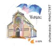 Italy. Verona. Watercolor