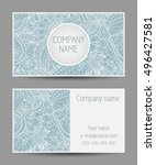 vector template business card.... | Shutterstock .eps vector #496427581
