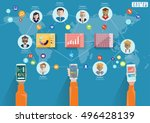 technology business... | Shutterstock .eps vector #496428139