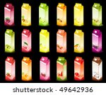set of packing milky products... | Shutterstock . vector #49642936