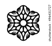 floral vector ornament for... | Shutterstock .eps vector #496431727