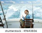 fisherwoman big game on boat...