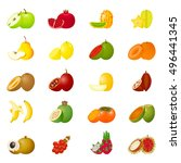 illustration with colorful... | Shutterstock . vector #496441345