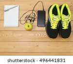 sports accessories for fitness... | Shutterstock . vector #496441831