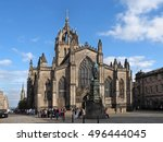 st. giles cathedral and royal... | Shutterstock . vector #496444045