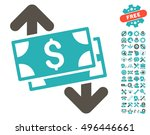 banknotes spending pictograph...   Shutterstock .eps vector #496446661