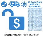open banking lock icon with... | Shutterstock .eps vector #496450519