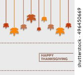 happy thanksgiving day... | Shutterstock .eps vector #496450669