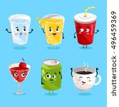 Cartoon Funny Drink Characters...