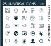 set of 25 universal icons on... | Shutterstock .eps vector #496461199