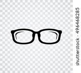 glasses  icon | Shutterstock .eps vector #496468285