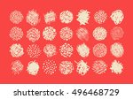 pen and pencil scribble brush... | Shutterstock .eps vector #496468729