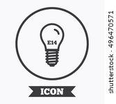 light bulb icon. lamp e14 screw ... | Shutterstock .eps vector #496470571