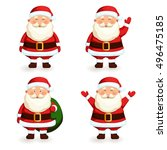 Santa Claus Set. Cartoon...