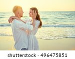 romantic vacation. love and... | Shutterstock . vector #496475851