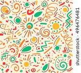 abstract hand drawn doodle... | Shutterstock .eps vector #496476481