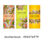set of business cards. template ... | Shutterstock .eps vector #496476979