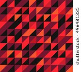 retro pattern of geometric...   Shutterstock .eps vector #496481335
